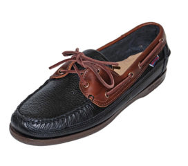 Sebago Schooner Black/Brown