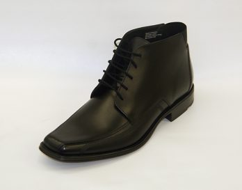 The Daily model lace bike toe boot by Lloyd seen here in oblique view. At Mark Kendall Shoes Wellington.