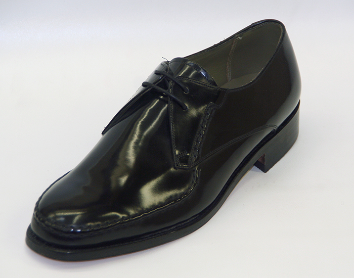 01937cd9 Barker Shoes Pitney wide black derby stitched leather rubber goodyear  welted shoe, seen here in