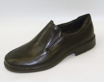 Ecco Dublin Slip-On shoe at Mark Kendall Shoes, shown here in oblique view.