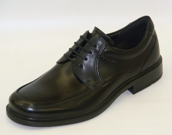Ecco Shoes Dublin model derby Lace style shoe at Mark Kendall Shoes, shown here in oblique view.