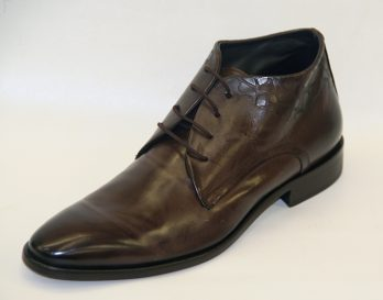 Galizio Torresi lace up boot at Mark Kendall Shoes, shown here in oblique view.