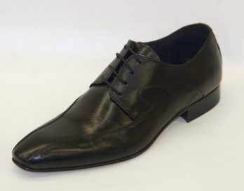 Progetto 1285 derby lace bike toe shoe at Mark Kendall Shoes, shown here in oblique view.