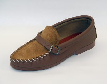 The Harry model slipper by Stevens seen here in oblique view, at Mark_Kendall_Shoes.