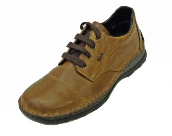 Rieker model 05324-25 Toe Cap brown leather shoe at Mark Kendall Shoes