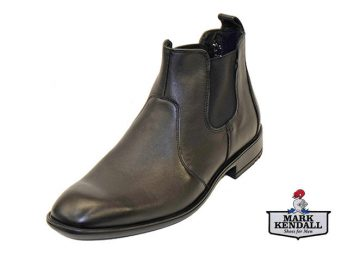 Lloyd Perez Black Pull On Boot at Mark kendall Shoes, Wellington, New Zealand