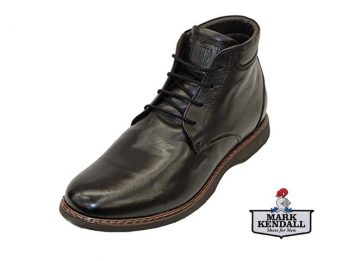 Galizio Torresi model 327656 V16149 Foulard Nero Smart Black Lace Up Boot at Mark Kendall Shoes, Wellington, New Zealand