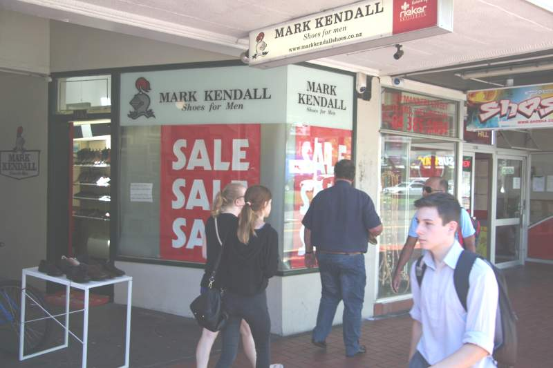 Mark Kendall Shoes for men-shop front window during 2018 Summer Sale