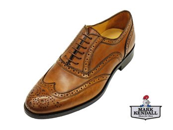 Mercanti Fiorentini 06650 Tan Brogue Mark Kendall Shoes