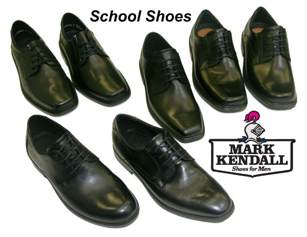A selection of school shoes from Mark Kendall Shoes in Wellington. More shoes in a broad range are available.