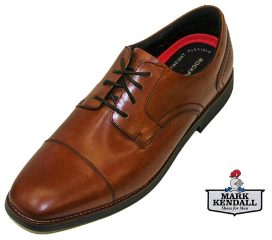Rockport Slayter Tan Toe Cap shoe