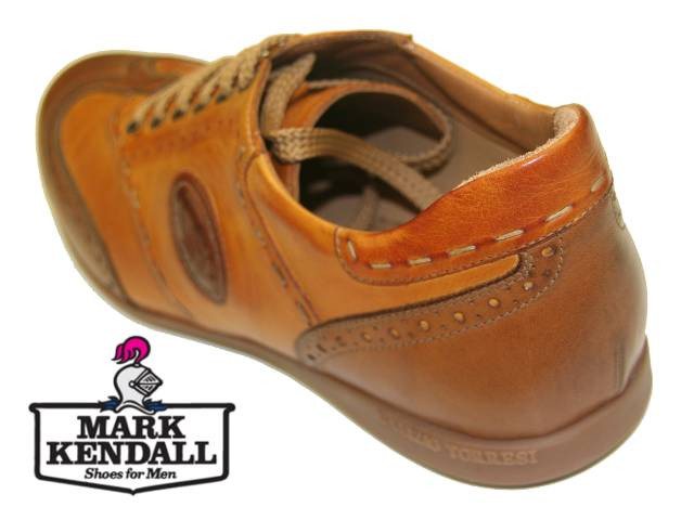 Galizio Torresi leather sneaker 341954 oblique rear view at Mark Kendall Shoes