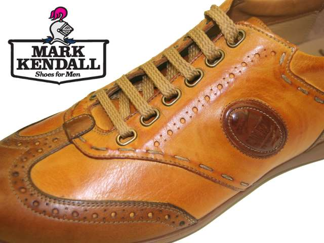 Galizio Torresi leather sneaker 341954 lace view at Mark Kendall Shoes